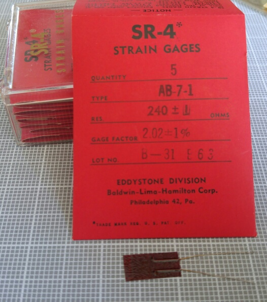 photo of SR-4 strain gages