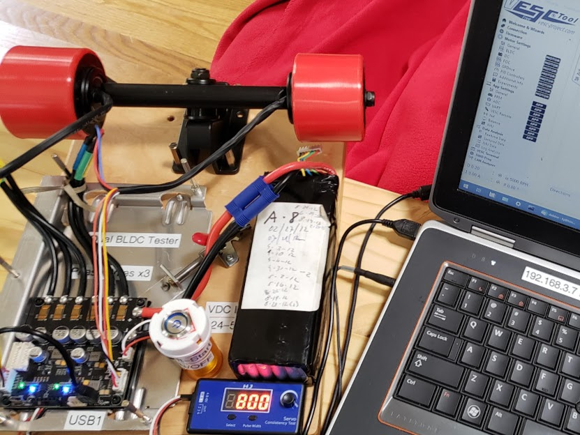 vesc_controller_and_bldc_skateboard_motor_testbench_for_direct_drives_photo